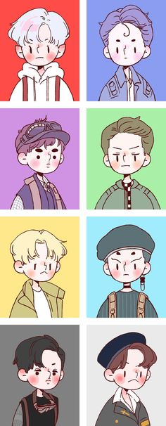 When you know you suck at art so you look at other peoples are and cry Exo Cartoon, Cartoon Art, Kpop Exo, Kpop Anime, Exo Stickers, Chibi, Character Art, Character Design, Exo Fan Art