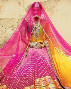 Hot Pink Traditional Lehanga Choli. #trend #amazonindiafashionweek #fdci #couture #designer #solteeuk #weddinginspiration #bridalinspiration #style #weddingdress #vintage #indianbride #blacklovers #aifwaw16 #bride #autumnwinter2016 #black #embroidery #weddingideas #sulakshanamonga #womensfashion #bespoke #vogue #photographs #chockerset #jewellery #chocker #weddings #indianweddings #vintagejewelry