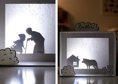 DIY Animal Silhouettes for Shadow Puppets - My kids are going to love these! Diy Shadow Box, Shadow Art, Camping Crafts, Fun Crafts, Diy For Kids, Crafts For Kids, Pop Up Karten, Diy Cadeau Noel, Shadow Theatre