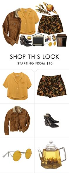 """i let saturn hold my hand"" by accidentalzoe ❤ liked on Polyvore featuring Whistles, Gap, INDIE HAIR and D&G"