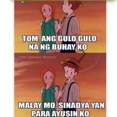 Oh may ghad Hugot Quotes Tagalog, Tagalog Quotes Hugot Funny, Hugot Lines Tagalog, Patama Quotes, Memes Pinoy, Memes Tagalog, Pinoy Quotes, Tagalog Love Quotes, Sarcasm Quotes