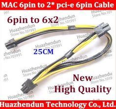 Free shipping Mac Pro / G5 mini MAC 6pin to 2* pci-e 6pin video card power cable support 8800GT 4500 gtx285 HD4870 HD5770 HD5870