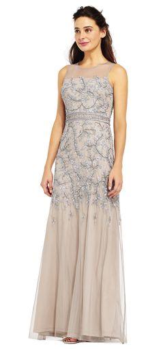 b27c6ce08e07 Mermaid Skirt, Mermaid Dresses, Metallic Heels, Illusion Neckline, Mothers  Dresses, Adrianna