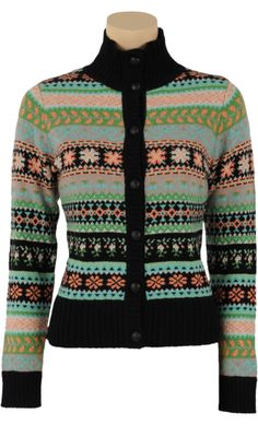 € 89,95   Cardi button Boden   Vintage Inspired Winter  ♡   #Wool #rib #collar #cardigan   Knitted   Pattern   ♡   #KingLouie Special AW14