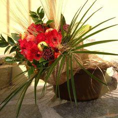 Bouquet dai toni autunnali in stile country