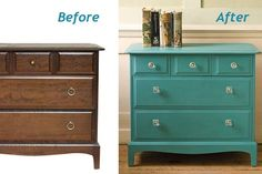 Fantastic furniture makeovers! Must get brave and try this!