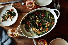 Roasted Sausage, Chard, and Cannellini Beans #healthy #warm #cozy #fall #winter #recipe #food #Food52