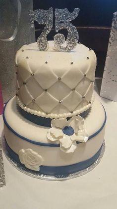 75 Birthday Cake 75th Parties 80th Celebration Happy