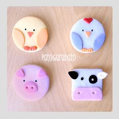 New Cookies Decoradas Granja Ideas Fondant Cookies, Cupcake Cookies, Sugar Cookies, Farm Animal Party, Farm Party, Childrens Cupcakes, Farm Cookies, Christmas Cookies Gift, Cupcakes Decorados
