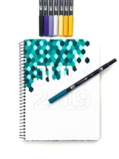 Geometric Task Journal Month Page by Jessica Mack on behalf of Tombow