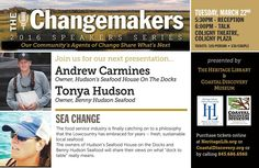 March 22: Sea Change: The Changemakers 2016 Speakers Series with ...