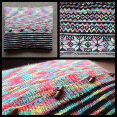 Knitted pillow. 50x50 cm