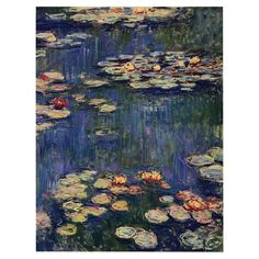 Add museum-worthy appeal to your living room or study with this eye-catching canvas print of Claude Monet's Water Lilies 1914.