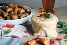 Craft Beer Fondue with Smoked Gouda. Perfect with soft pretzels, vegetables, or grilled meat.