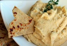 Whole Wheat Flatbread and Roasted Garlic White Bean Dip - Rachel Cooks Homemade Biscuits Recipe, Biscuit Recipe, White Bean Dip, Sweet And Salty, Vegan Dishes, Street Food, Food Inspiration, Sauces, Oriental