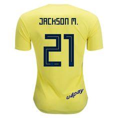 ff1cae4c7 Juan Guillermo Cuadrado 11 2018 FIFA World Cup Colombia Home Soccer Jersey