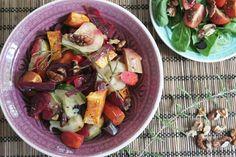 Rozmaringos-diós tepsis zöldségek Vegan Vegetarian, Vegetarian Recipes, Food Network, Potato Salad, Bacon, Veggies, Potatoes, Ethnic Recipes, Potato