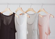 Good quality basic tanks. Like all these colors