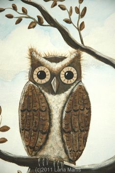 'Blue and Brown Owl' by Lana Manis