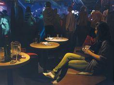http://www.boumbang.com/levy-lasne-thomas/ Thomas Lévy-Lasne, Boite de nuit, 2011, huile sur toile, 97 x 130 cm © Thomas Lévy-Lasne