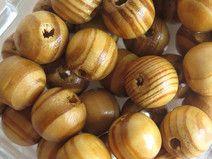 10 perle di legno  12 mm