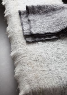 Gorgeous, matted, felty wool blankets
