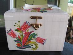 Vintage Decoupage Box Purse by TimeWarpJunkie on Etsy, $74.99