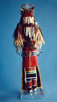 Plains Crow Style Manⓒ1988 Rhonda Holy Bear Lakota Doll Artist