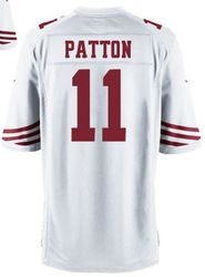 """$78.00--Quinton Patton White Elite Jersey - Nike Stitched San Francisco 49ers #11 Jeresey,Free Shipping! Buy it now:click on the picture, than click on """"visit aliexpress.com"""" In the new page."""