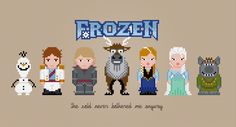 Frozen characters PDF pattern by PixelPower