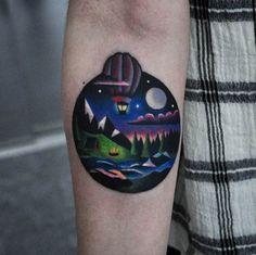 Hot Air Balloon Tattoo by David Cote
