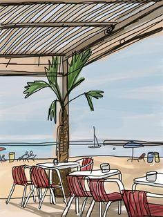 playas en barcelona ilustracion - Buscar con Google
