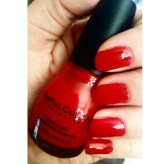I love days off. I have time to relax and pamper myself. This is from @sinfulcolorsprofessional in #NoTextRed This polish was sent to me by @influenster @influenstervox complimentary for my review. #sinfulcolors #nailpolish #DLVoxBox