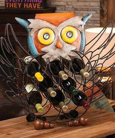 Look at this #zulilyfind! Owl Wine Bottle Holder #zulilyfinds