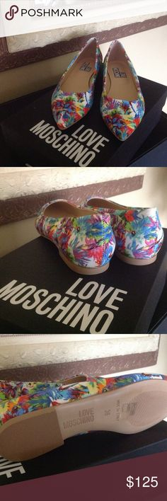Love Moschino Jungle Flats Super Cute Love Moschino Jungle Flats.  Brand new w/box.  No trades. Love Moschino Shoes Flats & Loafers