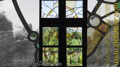 vitrail moderne cives et cabochons