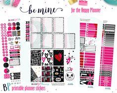 Be Mine Weekly Kit // Happy Planner // Printable Planner Stickers // Cut Line Files // Silhouette // Planner Printable by BEaYOUtifulPlanning on Etsy