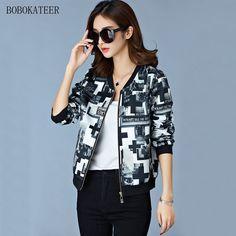 b7aed581165 Women jackets 2018 autumn bomber jacket women jaqueta feminina print coats  casual colorful coat chaquetas mujer casaco feminino-in Basic Jackets from  ...