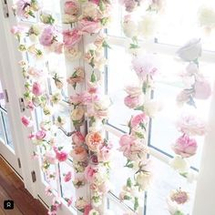 Beautiful flower backdrop for bridal shower , photo booth at a wedding.
