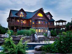 Katahdin Cedar Log Homes: Hennessey