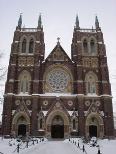 I have been in this church and it is beautiful. Religious Architecture, Historical Architecture, Beautiful Architecture, Canada Travel, Canada Trip, St Peters Cathedral, Cathedral Basilica, Church Pictures, Places Around The World