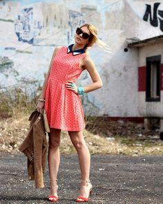 Dress, Celine Sunglasses, Mango Jacket, Zara Clutch, Zara Heels - Coral lady dress - Czech Chicks