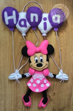 Minnie Mouse Felt Name Banner - Wall Decoration