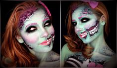 Hey guys! For my first Halloween makeup tutorial this year I decided to do a cute glittery pop art zombie inspired by the work of Mykie (Glam and Gore) and S...
