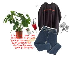 """""""Untitled #422"""" by peachcobain ❤ liked on Polyvore featuring Vetements"""