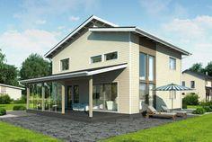 Selkeälinjainen ja viihtyisä koti – Lasse: 144 m², 4 makuuhuonetta, 2-kerroksinen omakotitalo
