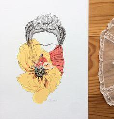 """Frida"" by ©Sophie Truant Illustrations, Drawings, Illustration, Illustrators"