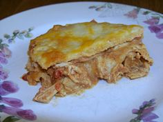 Low carb Mexican chicken lasagna on plate