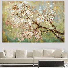Pintados à mão flor paisagem moderna da parede da arte decorativa imagem pintura em impresso lona pintura a óleo para sala de estar