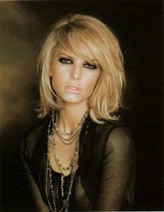 Jessica Simpson medium layered haircut